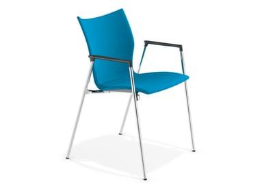 Stuhl aus Stoff mit Armlehnen LYNX III | Stuhl mit Armlehnen
