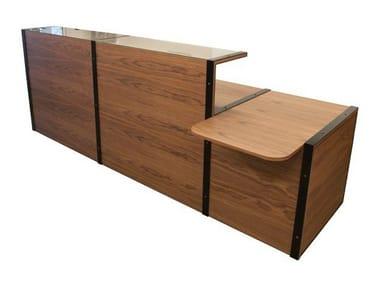 Wooden Office reception desk SÉVERIN | Office reception desk