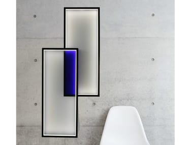 LED indirect light wall lamp DUO LT