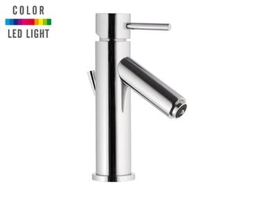 Countertop single handle LED chromed brass washbasin mixer MINIMAL COLOR | LED washbasin mixer