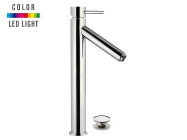 Countertop 1 hole LED chromed brass washbasin mixer MINIMAL COLOR | 1 hole washbasin mixer