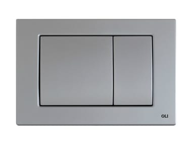 Brushed steel flush plate METAL DUAL | Brushed steel flush plate