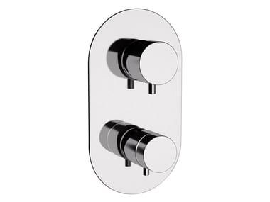 Chromed brass shower tap with diverter MINIMAL THERMO | Shower tap with diverter