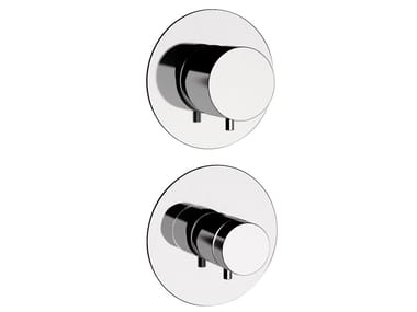 Chromed brass shower tap with diverter MINIMAL THERMO | Shower tap