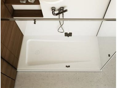 Built-in rectangular shower tray ZERO