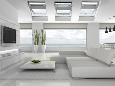 Centre-pivot laminated wood roof window STYLE PLUS