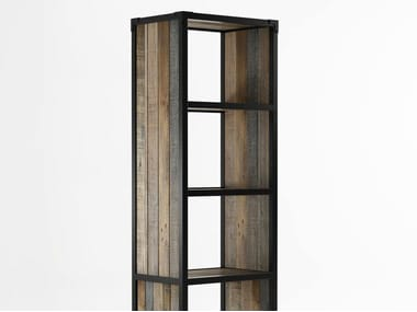 Freestanding Wooden Bookcase With Casters AK  14 | Freestanding Bookcase