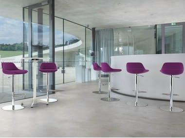 Swivel height-adjustable stool CRONA BAR | Height-adjustable stool