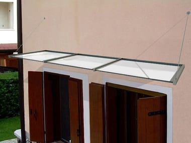 Glass door canopy Glass door canopy