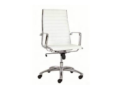 High-back executive chair with 5-spoke base TEKNIK-T
