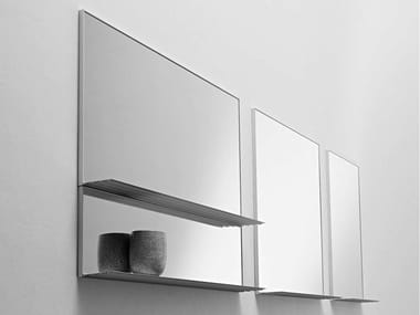 Framed wall-mounted aluminium mirror GILL