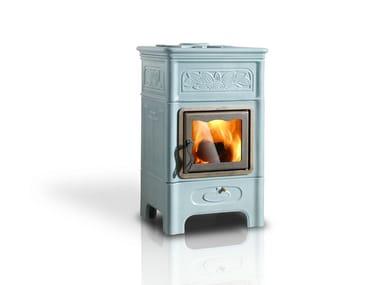Wood-burning ceramic stove DECÒ