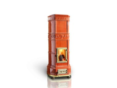 Wood ceramic Heating stove GRAND'OVALE | Heating stove