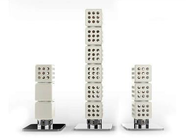 Modular ceramic decorative radiator THERMOSTACK TOWER