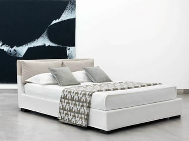 Upholstered bed with removable cover BAHAMAS BASSO