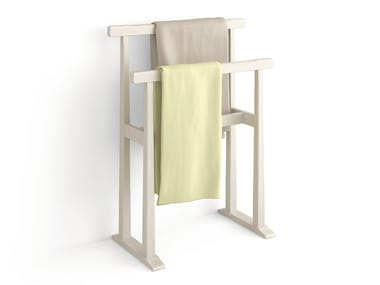 Standing wooden towel rack Towel rack
