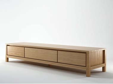 Low Wooden TV Cabinet SOLID | Wooden TV Cabinet