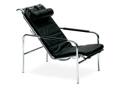 Chaise longue estofada de pele GENNI