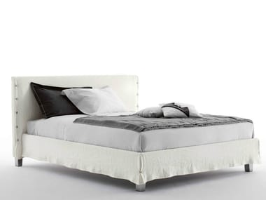 Double bed with removable cover WHITE