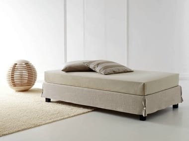 Sommier with removable cover WHITE SOMMIER