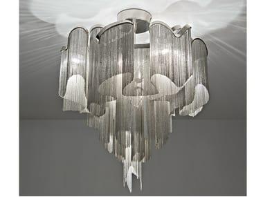 Lampada da soffitto alogena in metallo STREAM   Lampada da soffitto