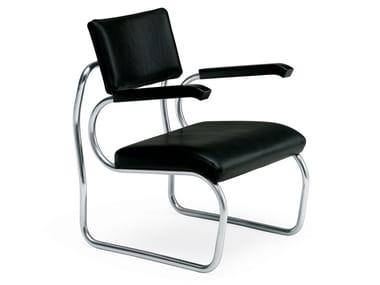 Cadeira lounge estofada com braços SANT'ELIA
