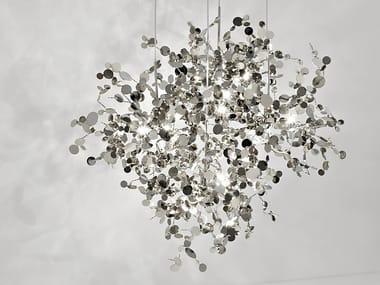 Lámpara colgante halógena de metal ARGENT | Lámpara colgante