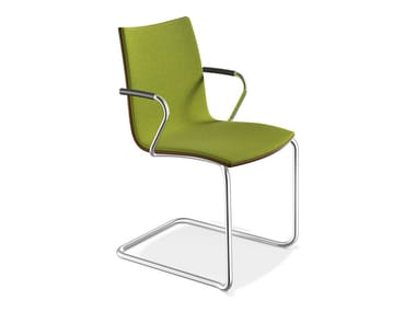 Cantilever chair with armrests ONYX II | Chair with armrests
