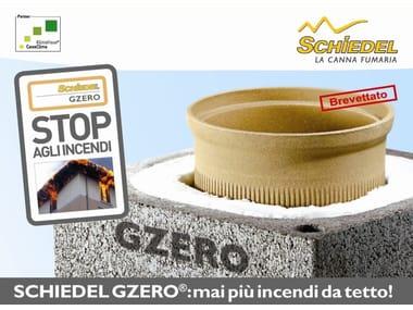 Soluzione per il passaggio canna fumaria a tetto SCHIEDEL GZERO Passaggio tetti in legno