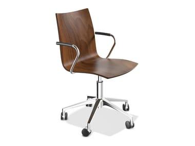Stuhl aus Holz mit Armlehnen ONYX IV | Stuhl mit Armlehnen