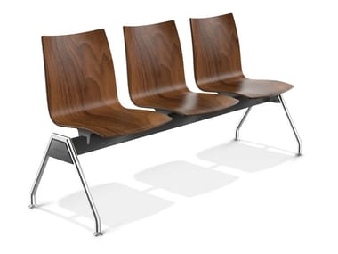 Wooden beam seating ONYX TRAVERSE | Beam seating