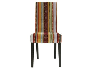 Upholstered high-back fabric chair ECONO VERY BRITISH