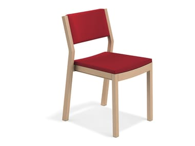 Upholstered reception chair WOODY | Upholstered chair