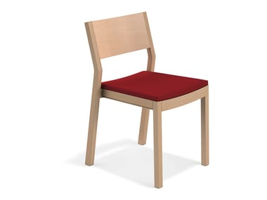 Besucherstuhl aus Holz WOODY | Stuhl aus Holz