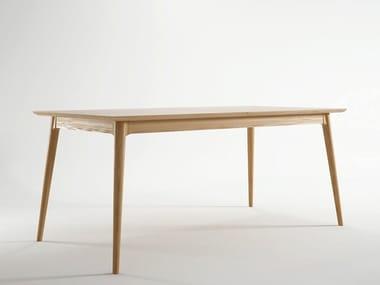 Tavolo allungabile da salotto rettangolare in legno VINTAGE | Tavolo allungabile