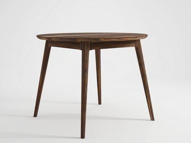 Tavolo da salotto rotondo in legno VINTAGE | Tavolo rotondo
