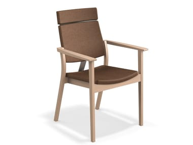 High-back chair with armrests SINA | Chair