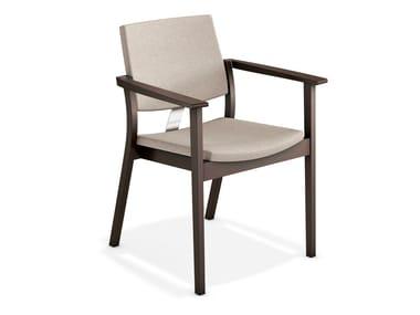 Gepolsterter Stuhl mit Armlehnen SINA | Stuhl mit Armlehnen