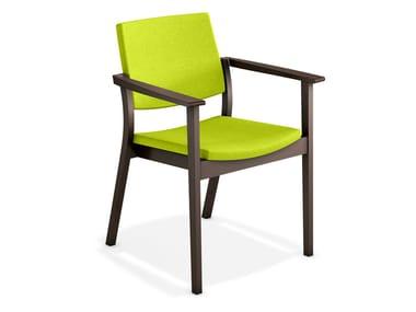 Gepolsterter Stuhl mit Armlehnen SINA | Gepolsterter Stuhl
