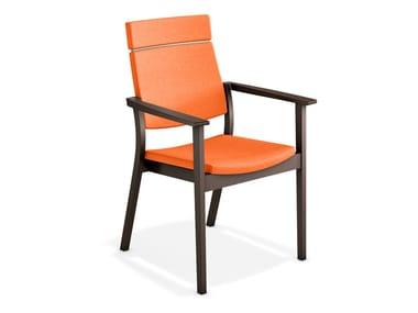Stuhl mit Armlehnen mit hoher Rückenlehne SINA | Stuhl mit hoher Rückenlehne