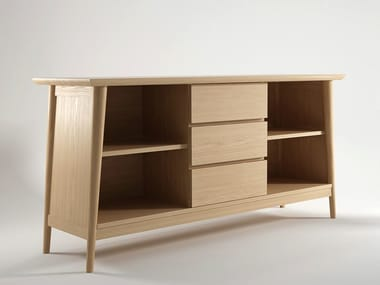Wooden sideboard with drawers VINTAGE | Sideboard with drawers