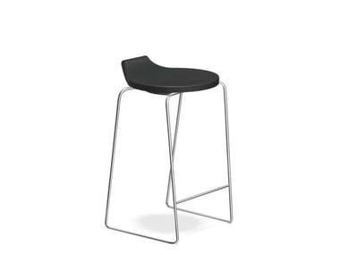 Low sled base stool RAVELLE I | Low stool