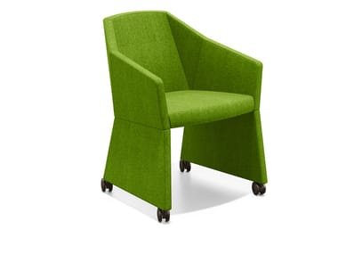 Fabric easy chair with casters PARKER I | Easy chair with casters
