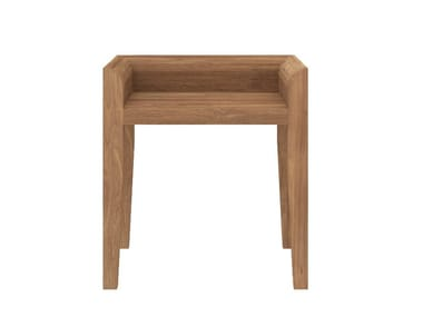 Low teak stool TEAK CUBA CHAIR