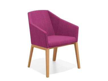 Loungesessel aus Stoff mit Armlehnen PARKER II | Loungesessel aus Stoff