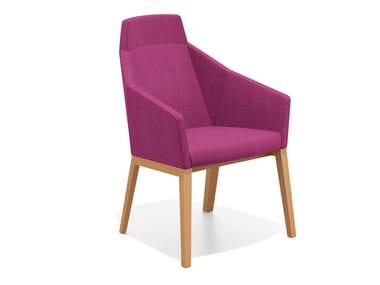 Loungesessel aus Stoff mit hoher Rückenlehne PARKER II | Loungesessel mit hoher Rückenlehne