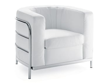 Upholstered armchair with removable cover ONDA | Armchair