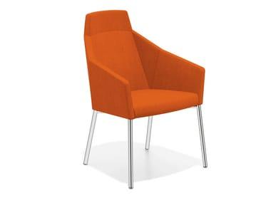Loungesessel aus Stoff mit hoher Rückenlehne PARKER III | Loungesessel mit hoher Rückenlehne