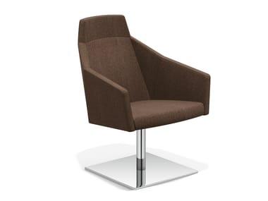 Drehbarer Loungesessel mit hoher Rückenlehne PARKER V | Loungesessel mit hoher Rückenlehne