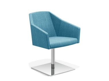 Drehbarer Loungesessel auf fixem Fußgestell PARKER V | Drehbarer Loungesessel